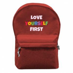 Plecak z przednią kieszenią Love yourself first