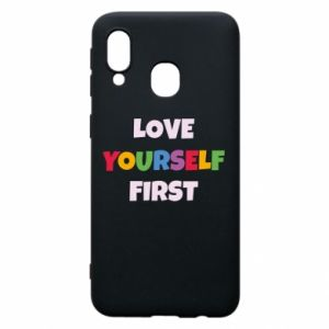 Etui na Samsung A40 Love yourself first