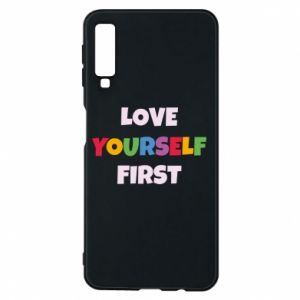 Etui na Samsung A7 2018 Love yourself first
