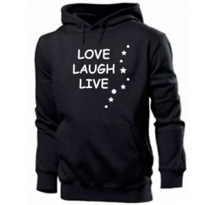 Bluza z kapturem męska Love. Laugh. Live