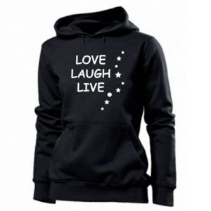 Bluza damska Love. Laugh. Live