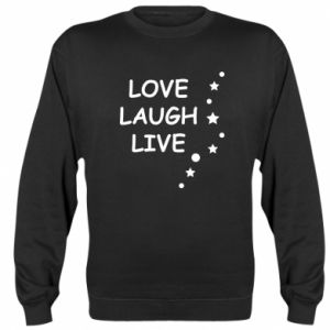 Bluza (raglan) Love. Laugh. Live