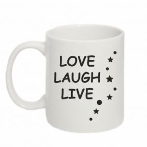 Kubek 330ml Love. Laugh. Live
