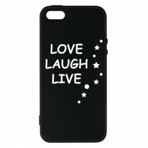 Etui na iPhone 5/5S/SE Love. Laugh. Live