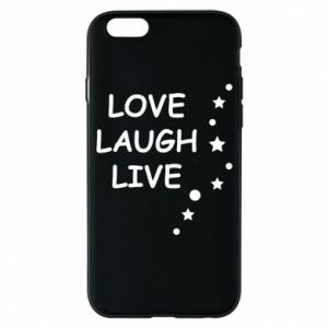 Etui na iPhone 6/6S Love. Laugh. Live