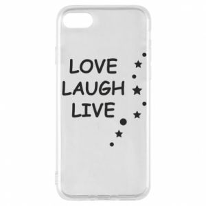 Etui na iPhone 7 Love. Laugh. Live