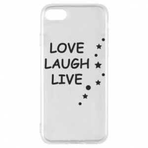 Etui na iPhone 8 Love. Laugh. Live