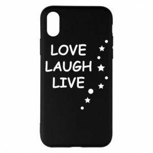 Etui na iPhone X/Xs Love. Laugh. Live