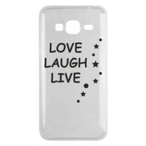 Etui na Samsung J3 2016 Love. Laugh. Live