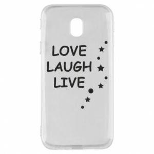 Etui na Samsung J3 2017 Love. Laugh. Live