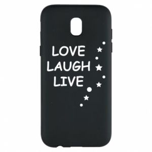 Etui na Samsung J5 2017 Love. Laugh. Live
