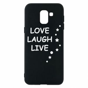Etui na Samsung J6 Love. Laugh. Live