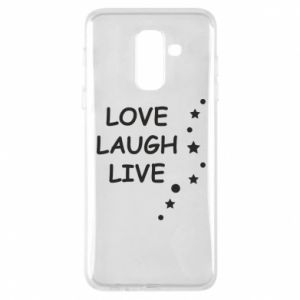 Etui na Samsung A6+ 2018 Love. Laugh. Live