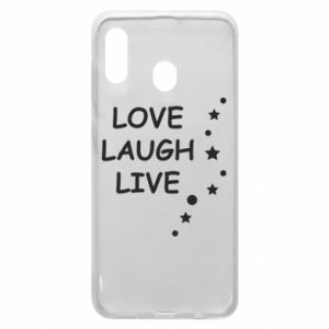 Etui na Samsung A20 Love. Laugh. Live