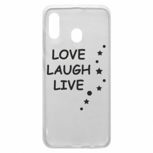Etui na Samsung A30 Love. Laugh. Live