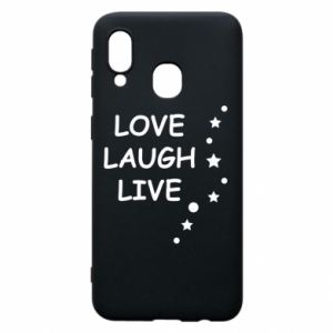 Etui na Samsung A40 Love. Laugh. Live