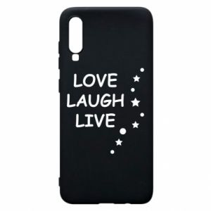 Etui na Samsung A70 Love. Laugh. Live
