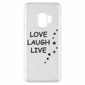 Etui na Samsung S9 Love. Laugh. Live