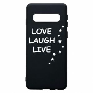 Etui na Samsung S10 Love. Laugh. Live