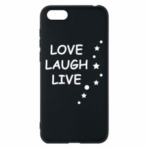Etui na Huawei Y5 2018 Love. Laugh. Live