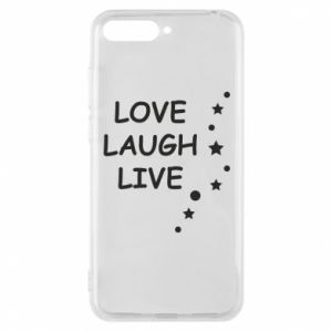 Etui na Huawei Y6 2018 Love. Laugh. Live