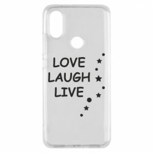 Etui na Xiaomi Mi A2 Love. Laugh. Live