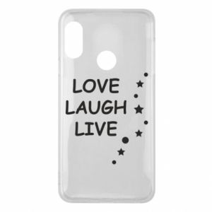 Etui na Mi A2 Lite Love. Laugh. Live