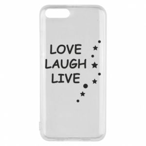 Etui na Xiaomi Mi6 Love. Laugh. Live