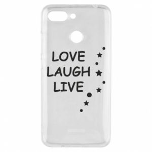 Etui na Xiaomi Redmi 6 Love. Laugh. Live