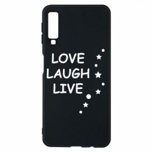 Etui na Samsung A7 2018 Love. Laugh. Live