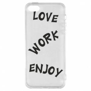 Etui na iPhone 5/5S/SE Love. Work. Enjoy