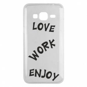 Etui na Samsung J3 2016 Love. Work. Enjoy