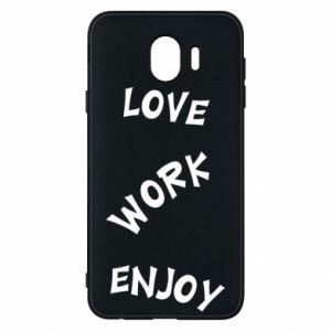 Etui na Samsung J4 Love. Work. Enjoy
