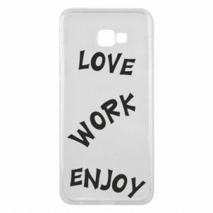 Etui na Samsung J4 Plus 2018 Love. Work. Enjoy