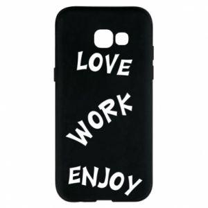 Etui na Samsung A5 2017 Love. Work. Enjoy