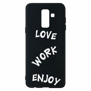 Etui na Samsung A6+ 2018 Love. Work. Enjoy