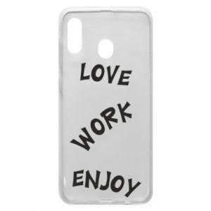 Etui na Samsung A20 Love. Work. Enjoy