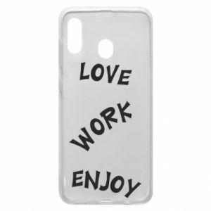 Etui na Samsung A30 Love. Work. Enjoy