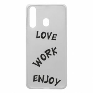 Etui na Samsung A60 Love. Work. Enjoy