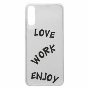 Etui na Samsung A70 Love. Work. Enjoy