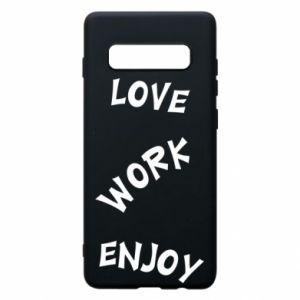 Etui na Samsung S10+ Love. Work. Enjoy