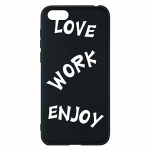 Etui na Huawei Y5 2018 Love. Work. Enjoy