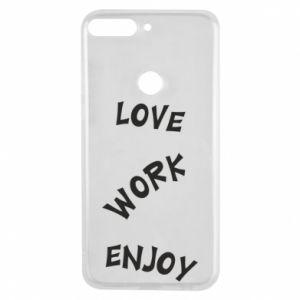 Etui na Huawei Y7 Prime 2018 Love. Work. Enjoy