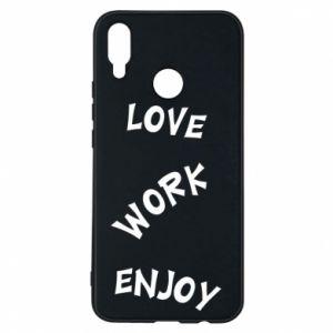 Etui na Huawei P Smart Plus Love. Work. Enjoy