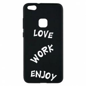 Etui na Huawei P10 Lite Love. Work. Enjoy