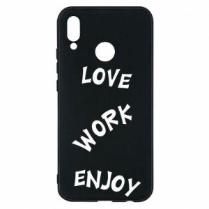 Etui na Huawei P20 Lite Love. Work. Enjoy