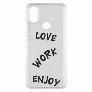 Etui na Xiaomi Mi A2 Love. Work. Enjoy