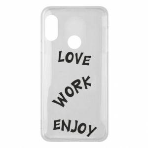 Etui na Mi A2 Lite Love. Work. Enjoy