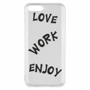 Etui na Xiaomi Mi6 Love. Work. Enjoy