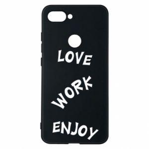 Etui na Xiaomi Mi8 Lite Love. Work. Enjoy
